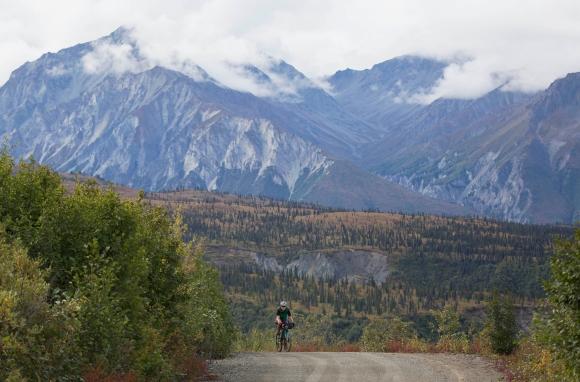 Lael Rides Alaska, Lael Wilcox, Alascom Road, Glacier View